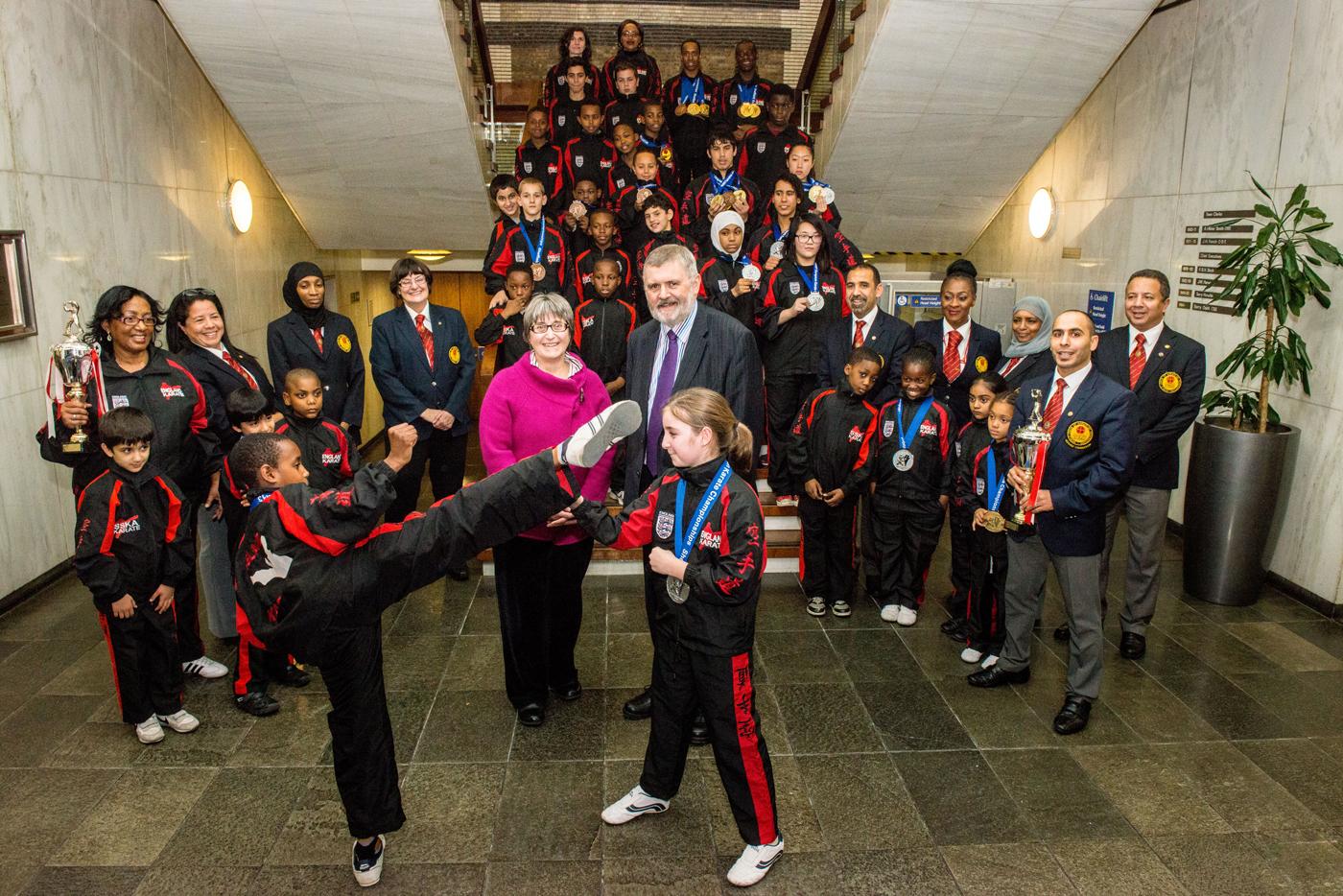 The ESKF Squad meeting the Mayor of Lewisham