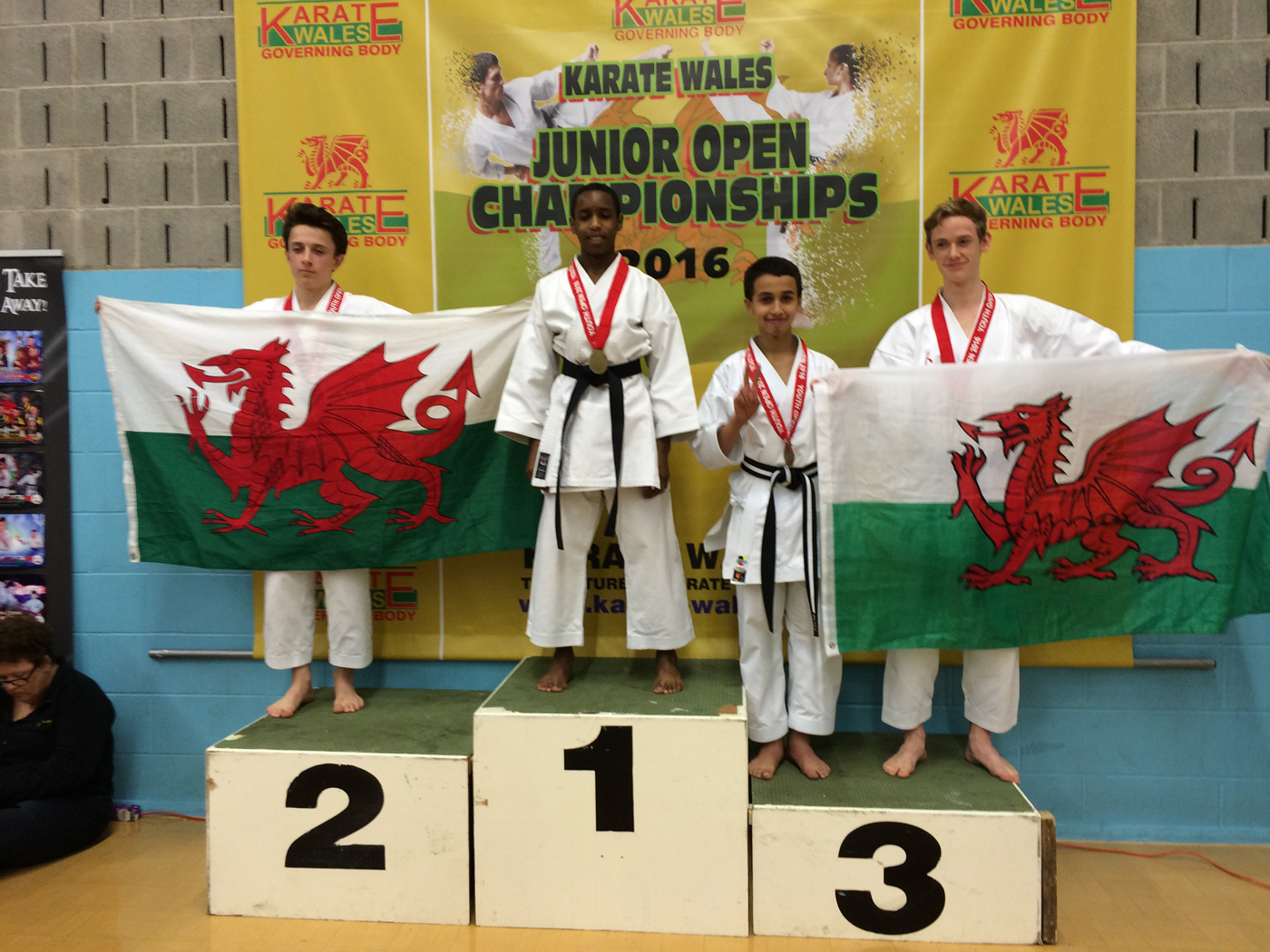 Winners in Wales – Podium