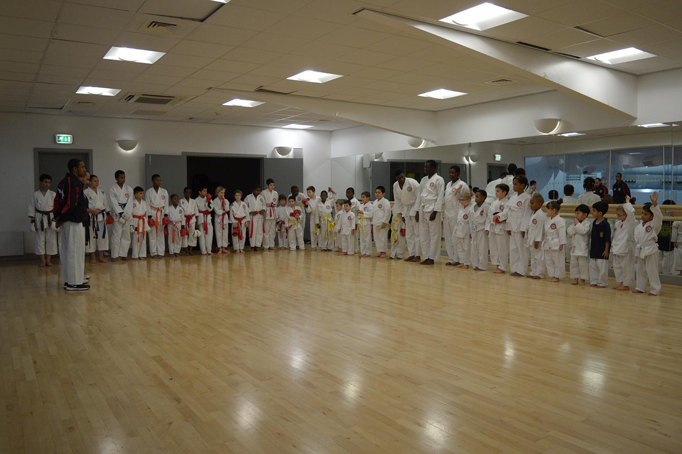 Line up after the Grading at Wavelengths Dojo