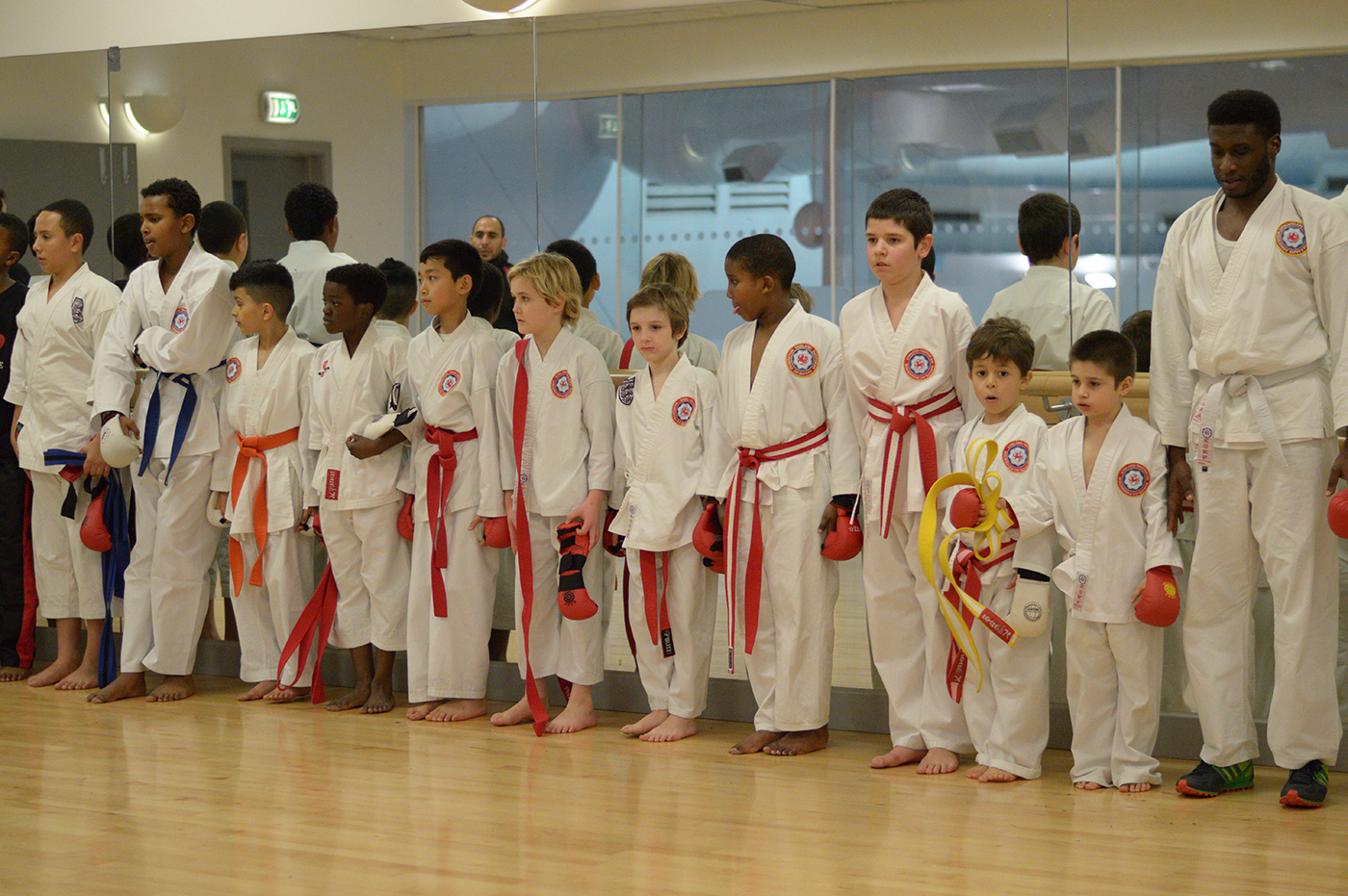 Line up after the Grading at Wavelengths Dojo