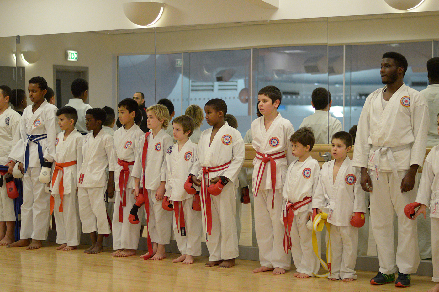 Line up after Grading at Wavelengths Dojo